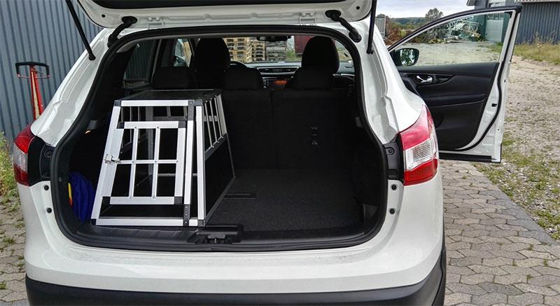 SafeCrate Xtra Small Premium i Nissan Qashqai årgang 2015