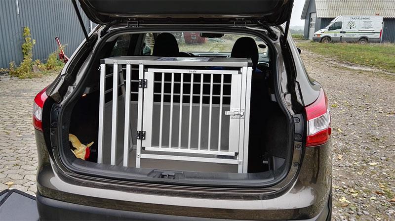 b-Safe Large Wide med trin Transportbur i Nissan Qashqai 2016