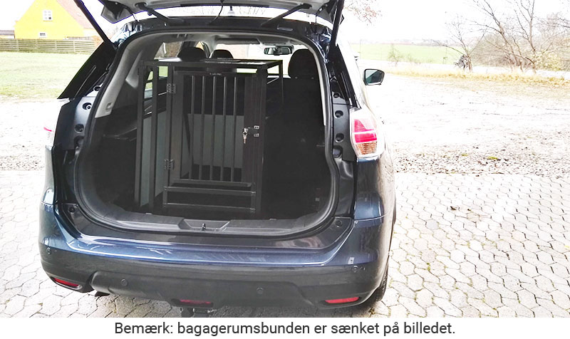 b-Safe XL High PRO med trin - stort transport hundebur i Nissan X-Trail årgang 2016