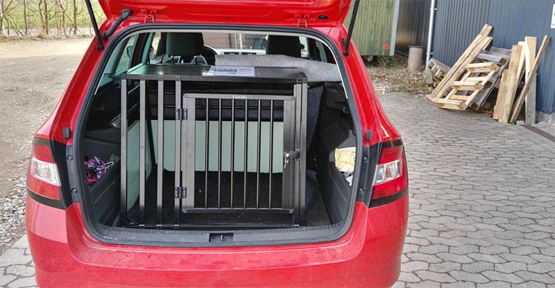 Hundebur til SUV - b-Safe Large Wide PRO - Skoda Fabia Combi 2015