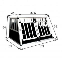 SafeCrate Double Small Premium - Hundebur med 2 dører - Mulighet for skillevegg