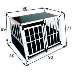 SafeCrate Double Large Premium - 2. Generasjon Hundebur