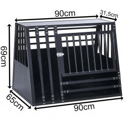SafeCrate XXL Wide Med Trin - 3. Generasjon Hundebur