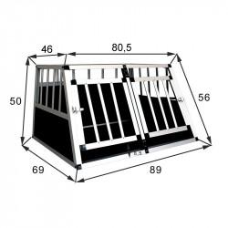 SafeCrate Double Small Premium - Hundebur med 2 dører - Mulighet for skillevegg (2. Generasjon)