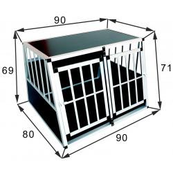 SafeCrate Double Large Premium - Dobbelt hundebur til 2 mellomstore hunder opp til labrador formel 1 størrelse (2. Generasjon)