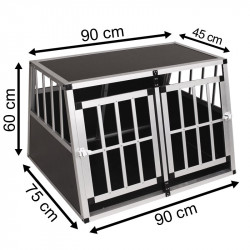 SafeCrate Double Medium Premium (2. Generasjon)